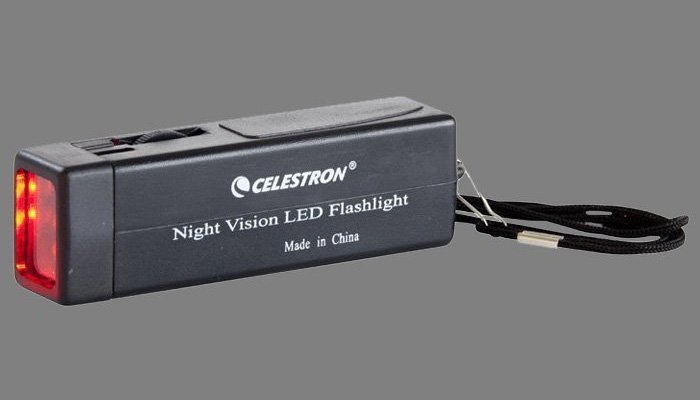 red flashlight for astronomy which preserves night sight